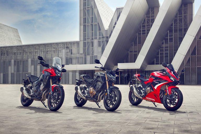 Трите 500-кубикови машини на Honda, са актуализирани за 2022 г.