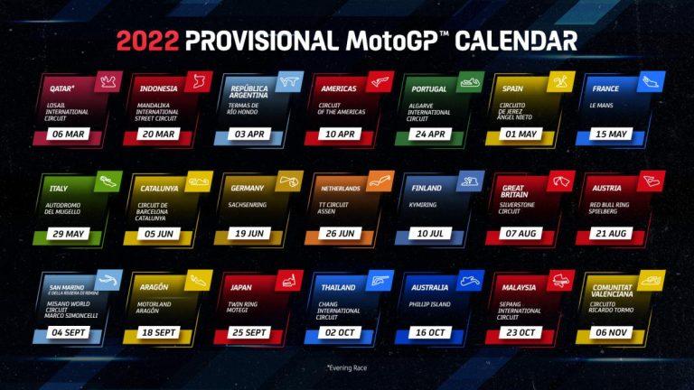 Обявиха предварителният календар в MotoGP за 2022 г.
